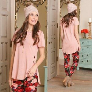 New Blush Tunic with Side Slit
